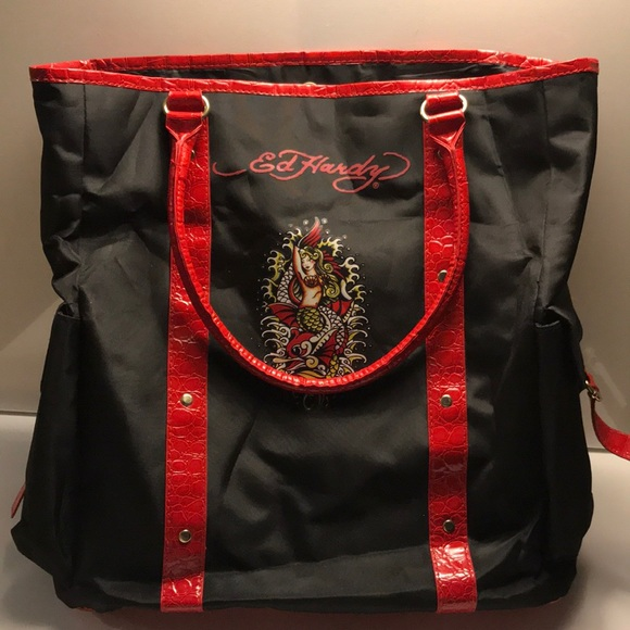 6aeb5bed3637 Ed Hardy Large Canvas Tote